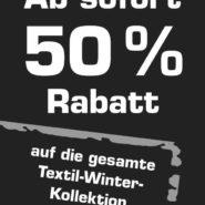 50% auf die aktuelle Wintersaison
