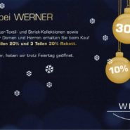 Advent bei Werner