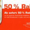 Ab sofort 50 % Rabatt auf alle Textil-Winter-Kollektionen